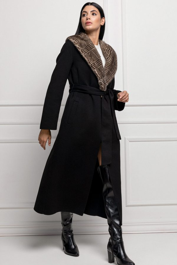Black Cashmere with Mink