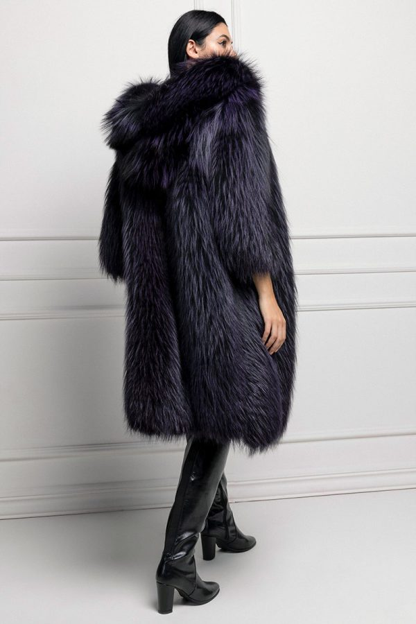 Cappotto di Volpe Viola