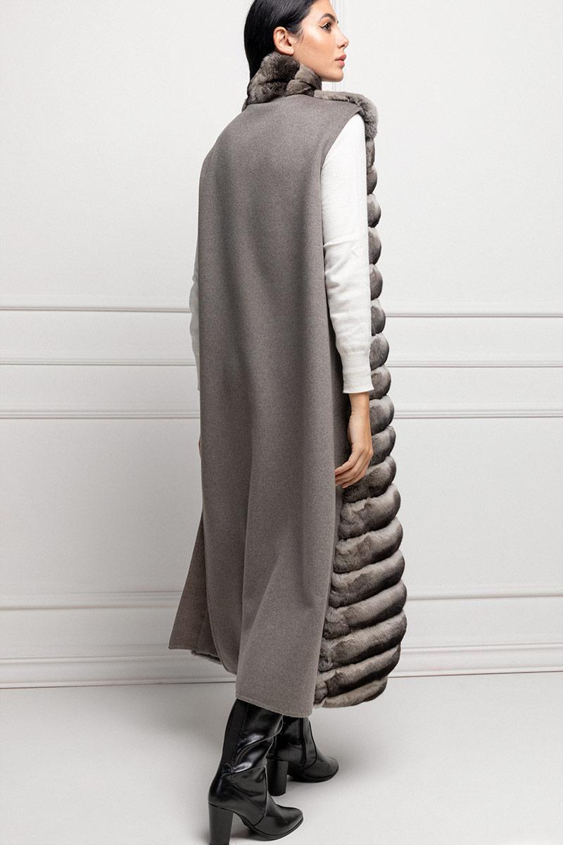 Cashmere Coat with Chinchilla