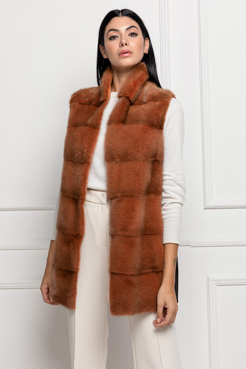 Orange Cashmere with Mink