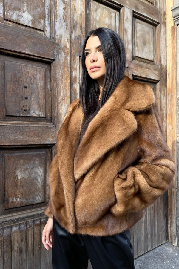 Honey Mink Fur Jacket