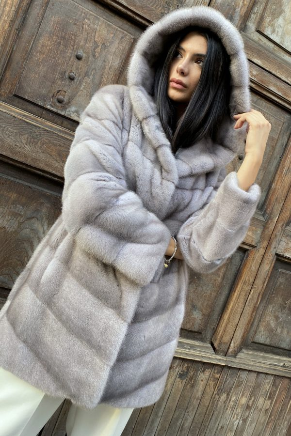 Silverblue Mink Coat