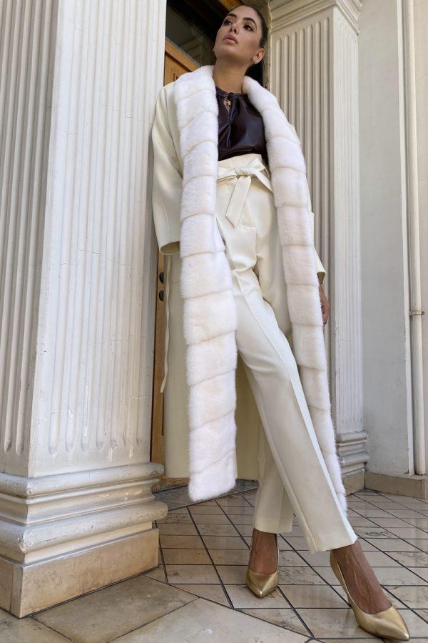 Cashmere Bianco con Visone