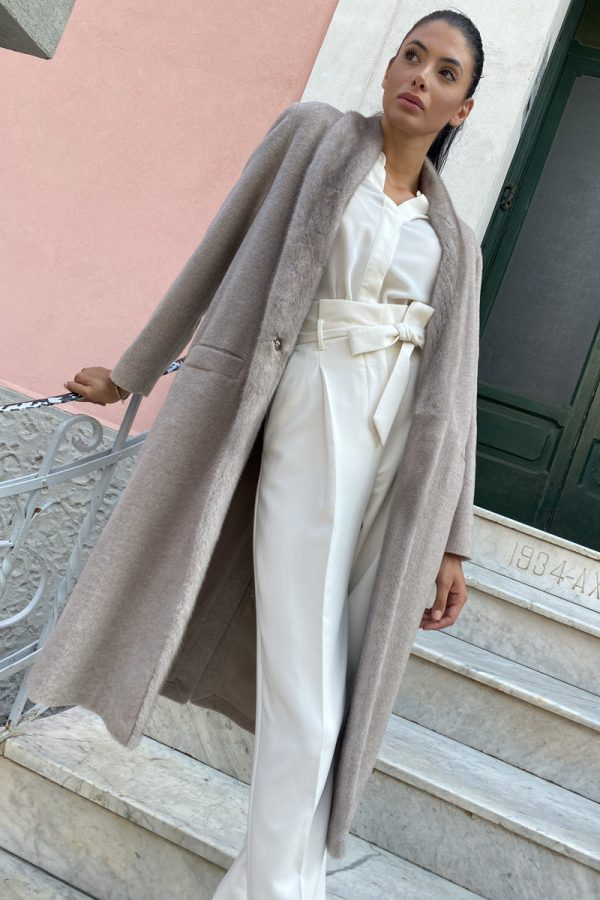 Beige Cashmere with Mink