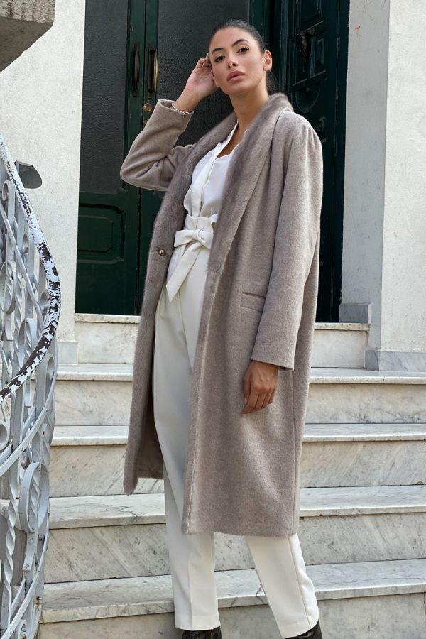 Пальто из Кашемира с Норкой