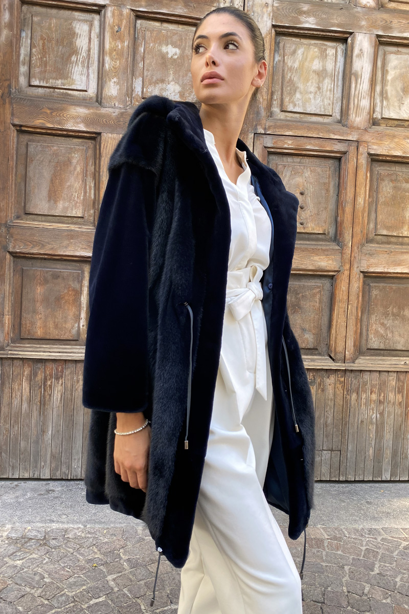 Sheared Mink Coat with Mink