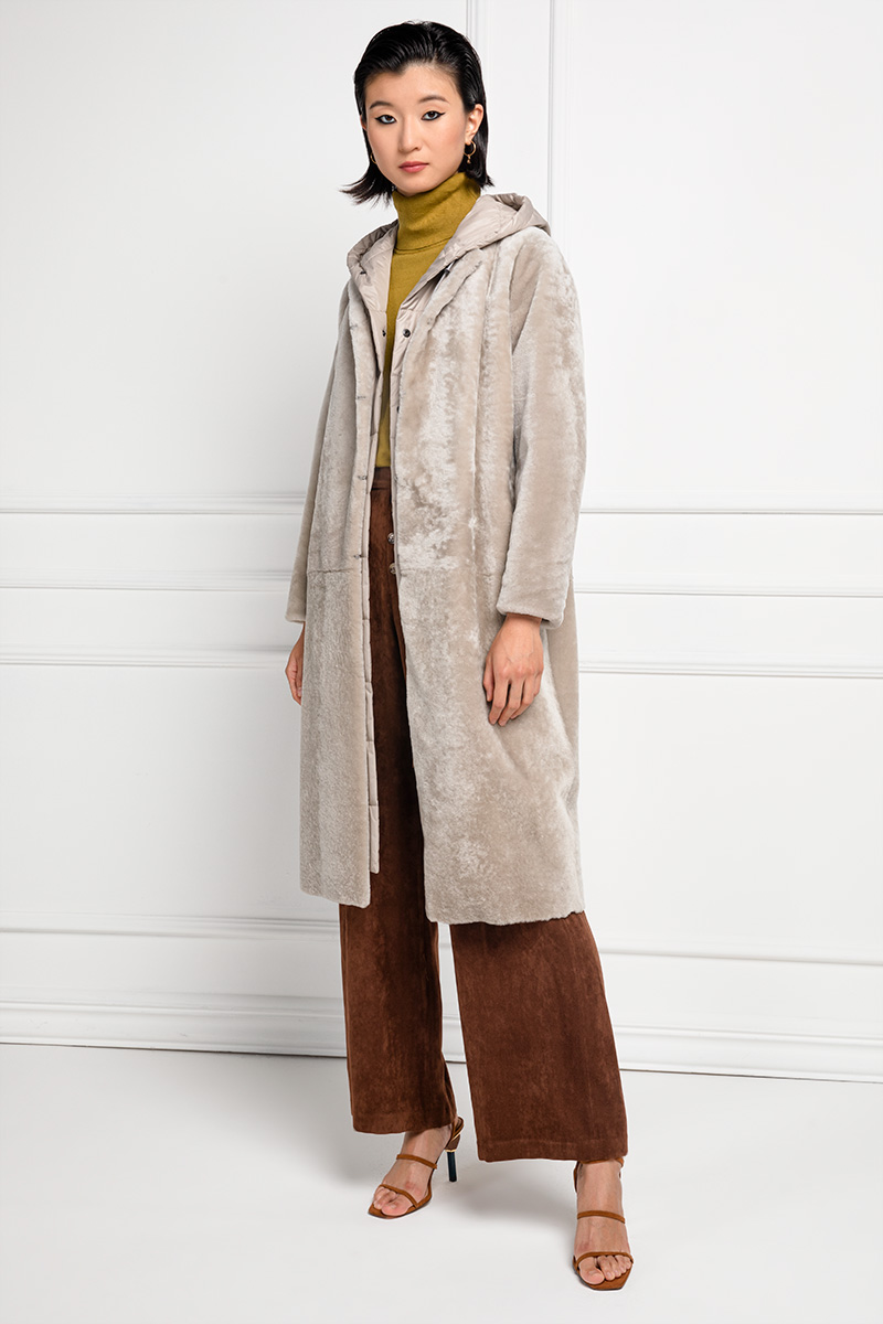 Cappotto di Montone con Impermeabile