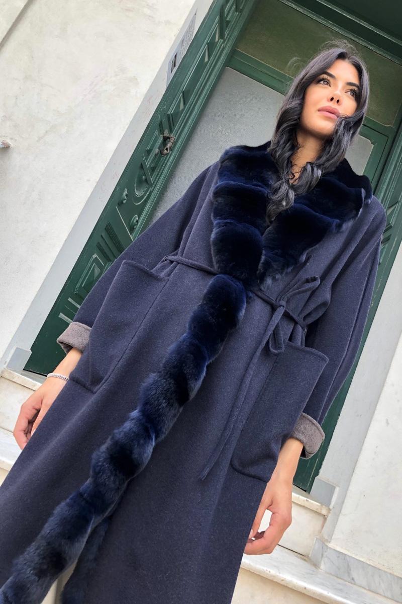 Пальто из Кашемира с Шиншиллой