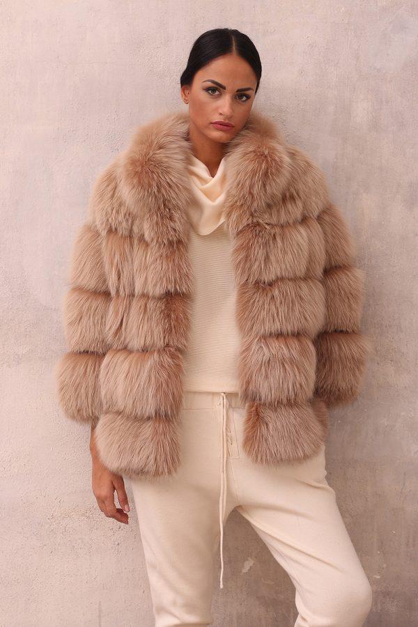 Beige Fox Jacket