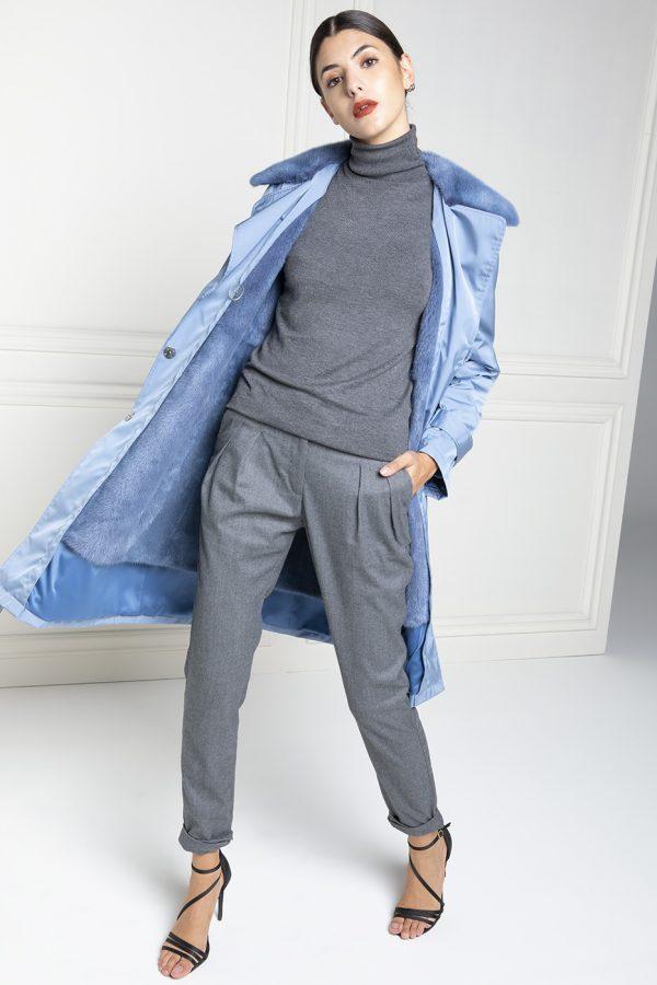 Cappotto Impermeabile con Visone