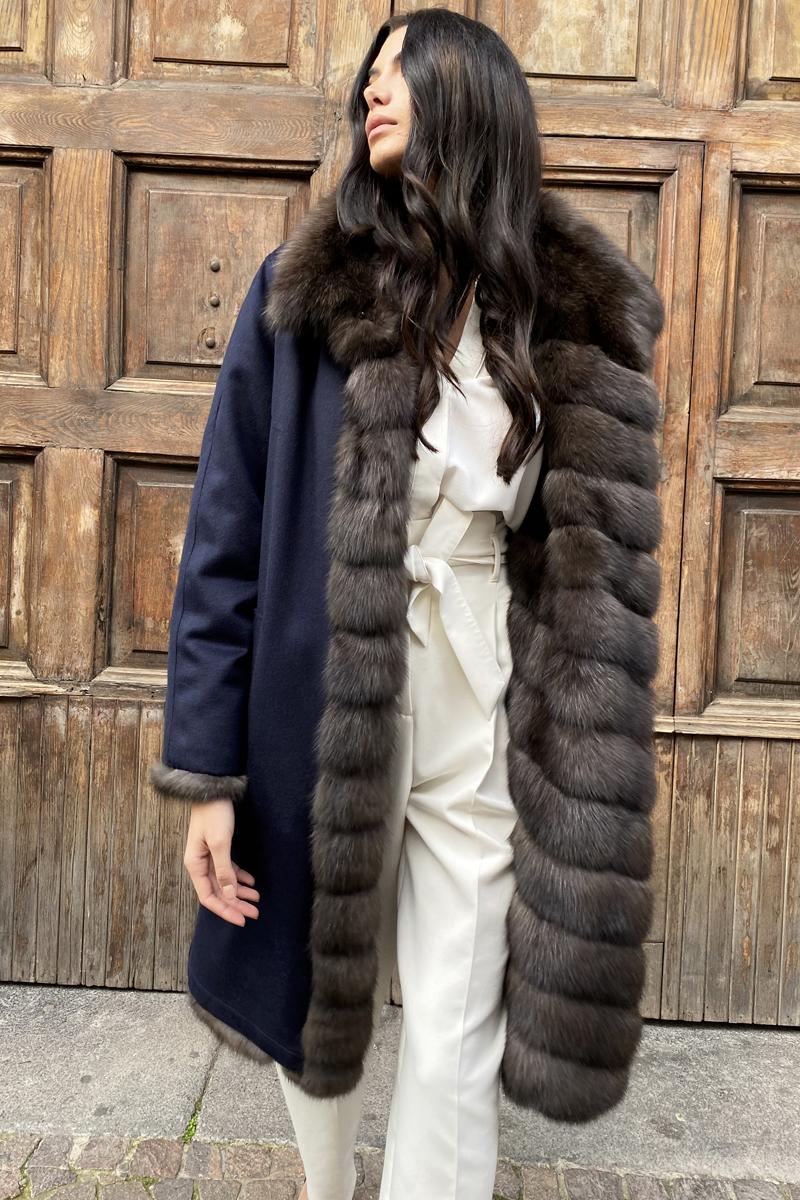 Sable Coat Double Face