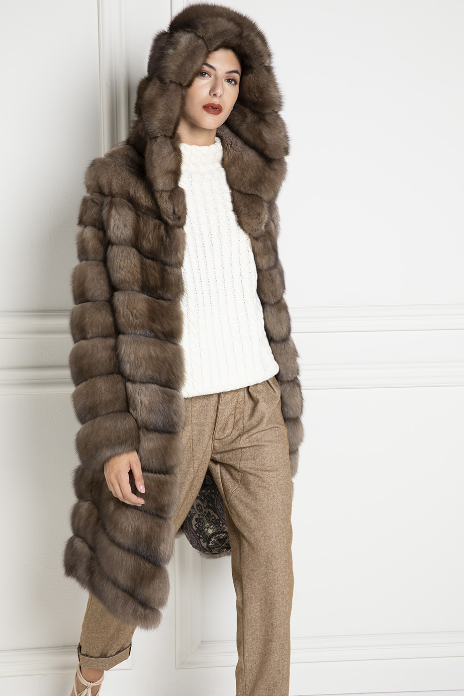Sable Fur with Hoodie