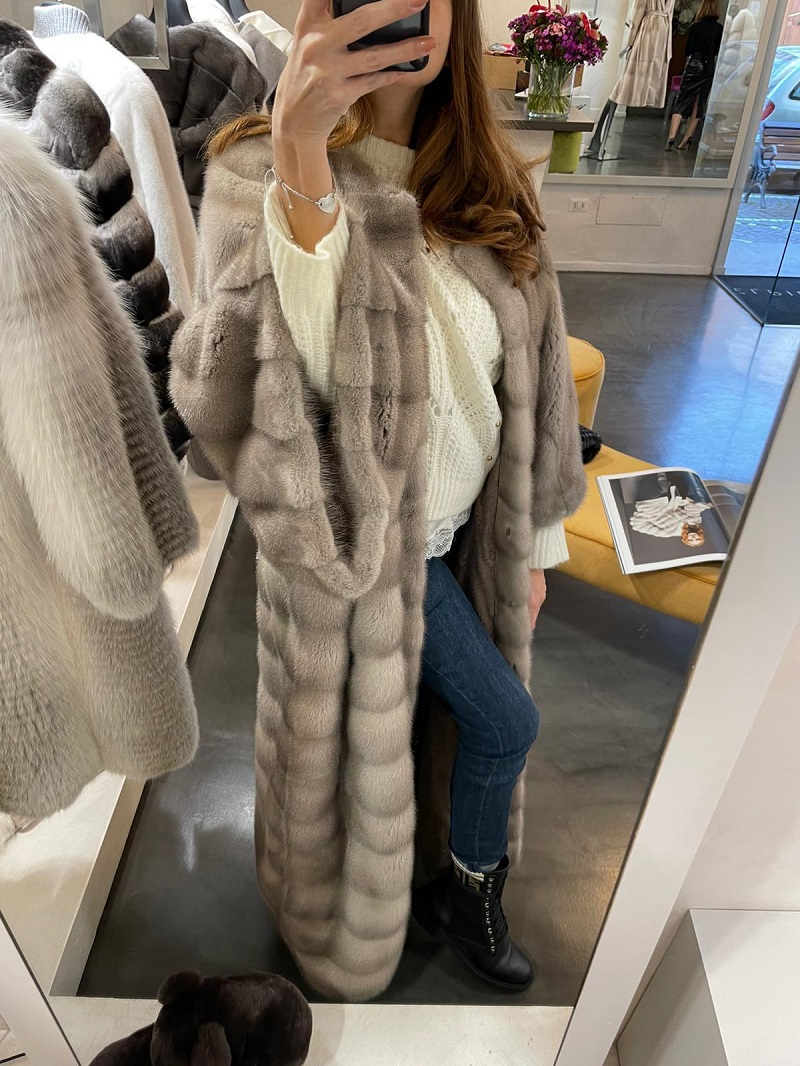 Silverblue Mink Coat