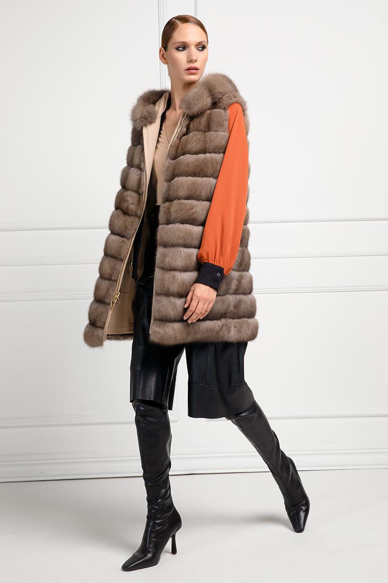 Sable Vest with Cashmere Loro Piana