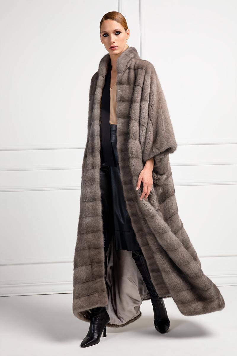 Silverblue Mink Coat Fur