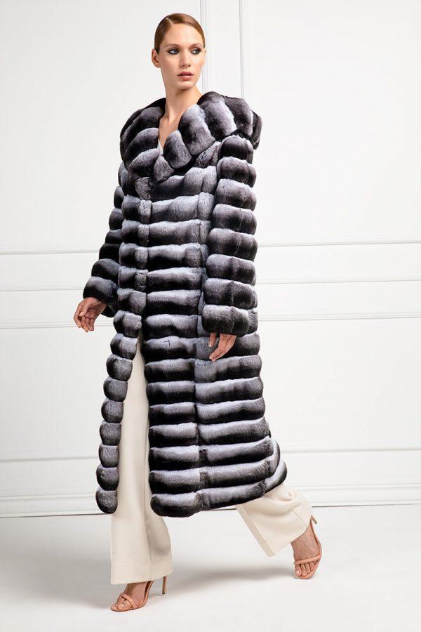 Chinchilla Coat Elpidio Loffredo Furs, How Much Is A Full Length Chinchilla Fur Coat