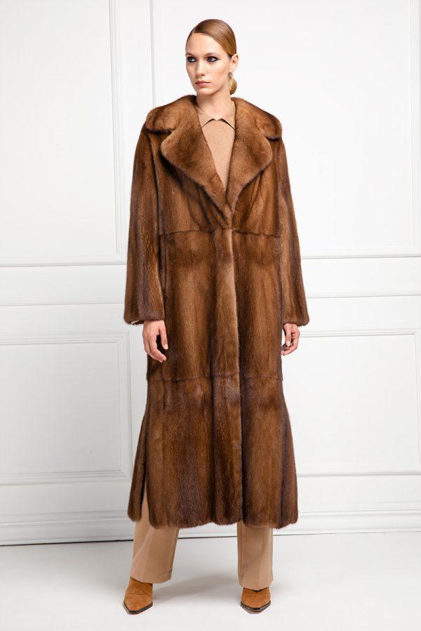 Honey Mink Fur Coat
