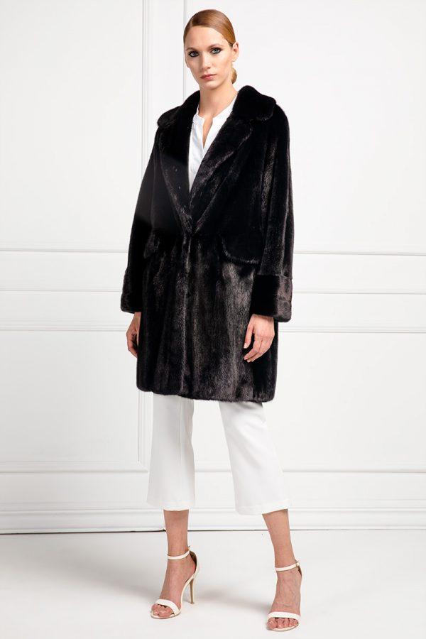 Cappotto di Visone Nero