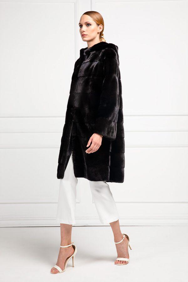 Blackglama Coat with Hoodie