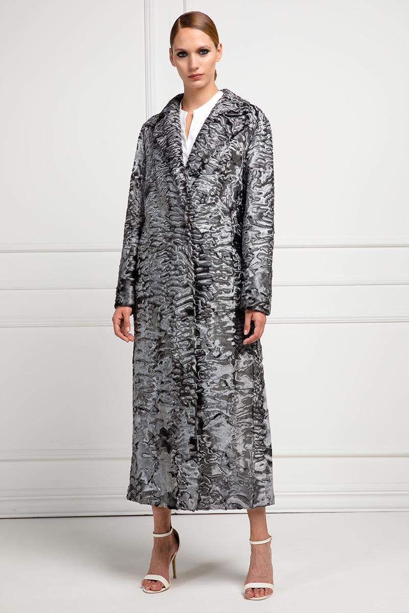 Cappotto di Swakara Argento