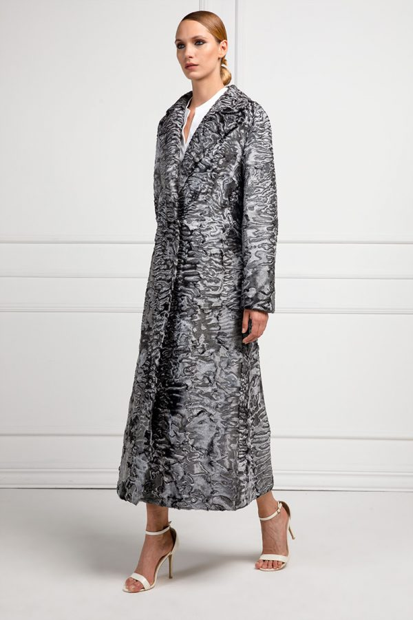Silver Swakara Fur Coat