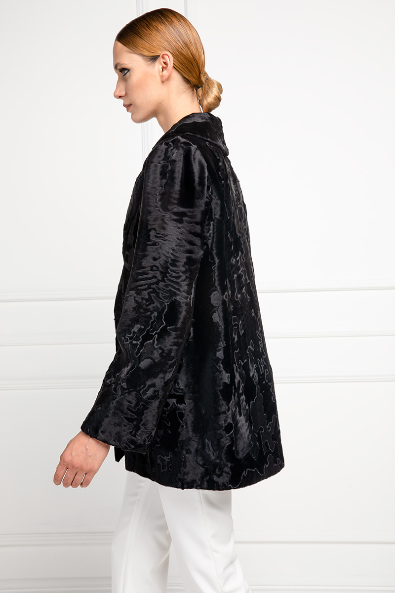 Black Swakara Jacket