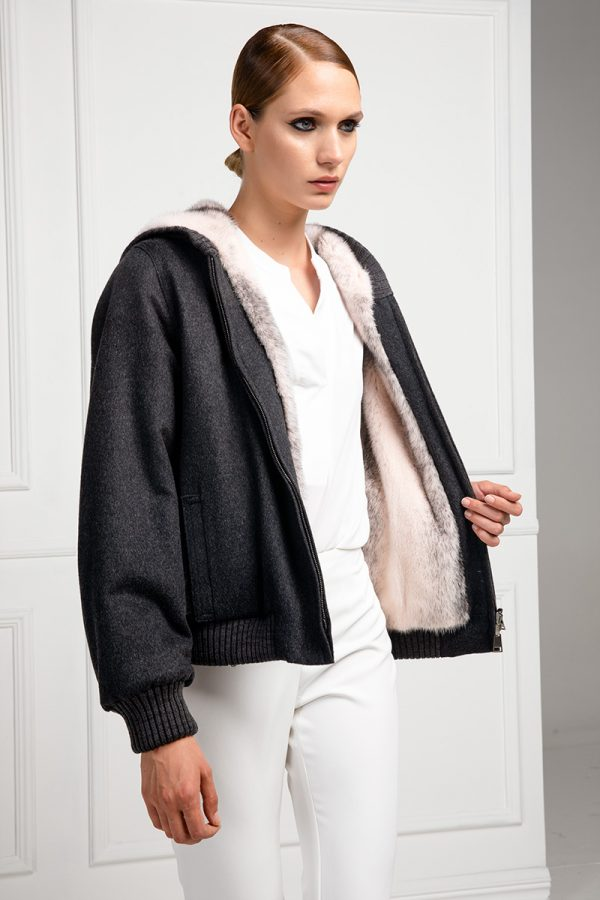 Black Cashmere with Pink Mink