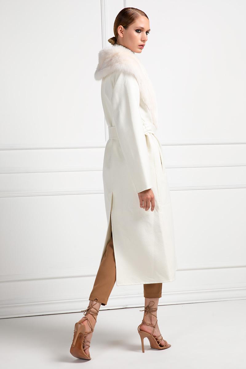 Cashmere Bianco con Zibellino