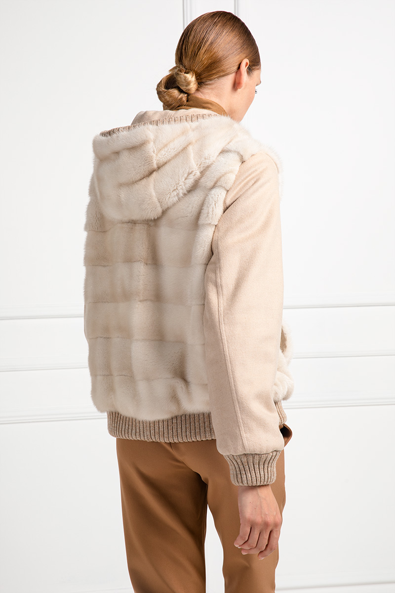Double Face Cashmere with Mink