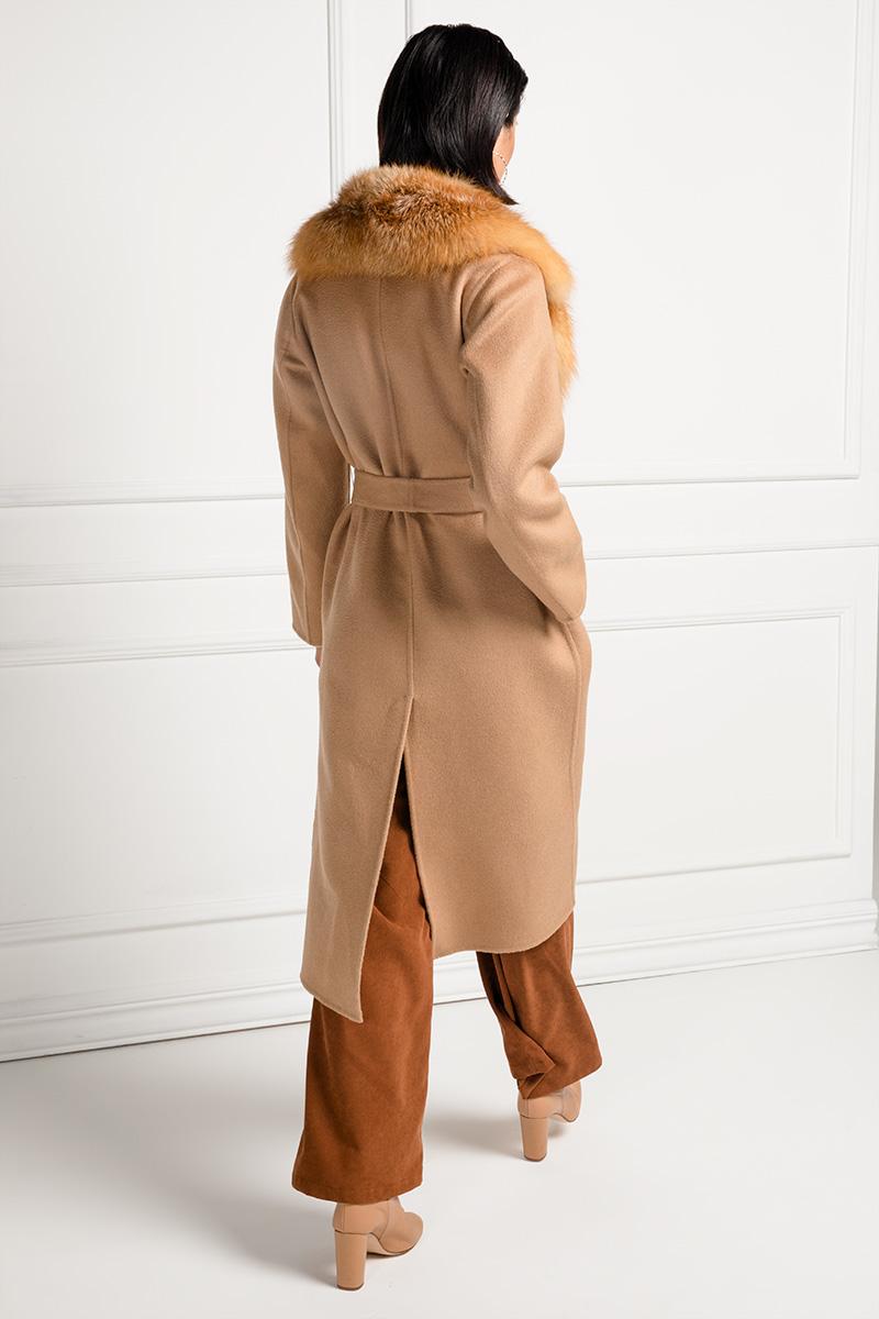 Пальто из Кашемира с Лисой