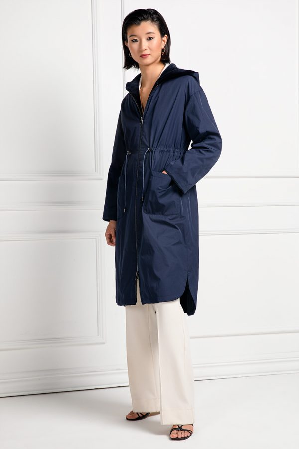 Sheared Mink Coat with Hoodie