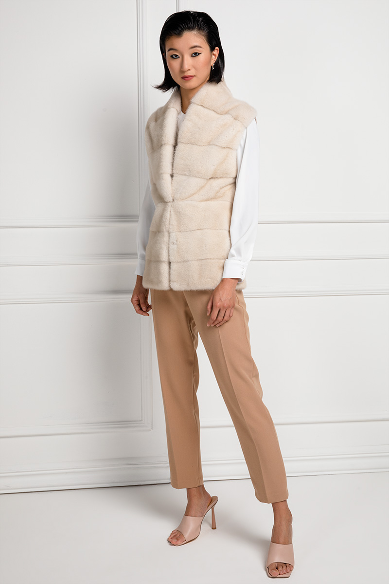Mink Vest with Cashmere