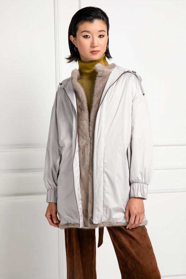 Silverblue Mink Fur with Waterproof