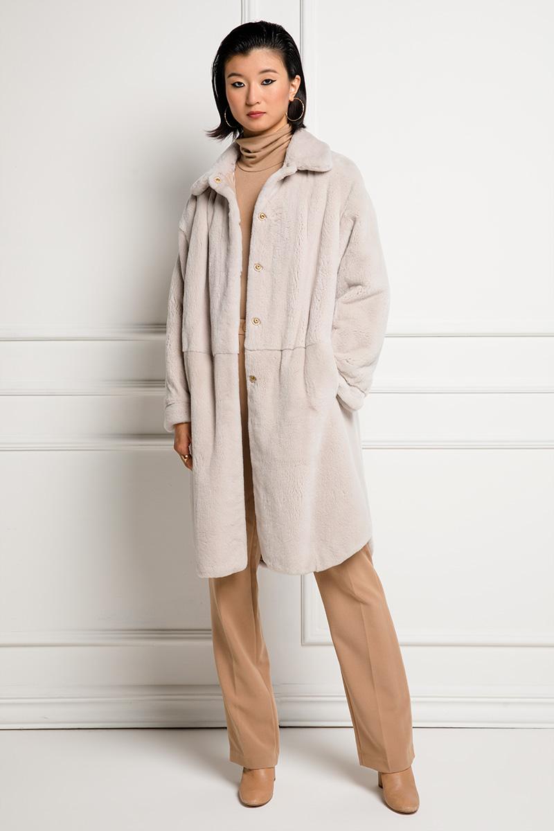 Double Face Sheared Mink Coat