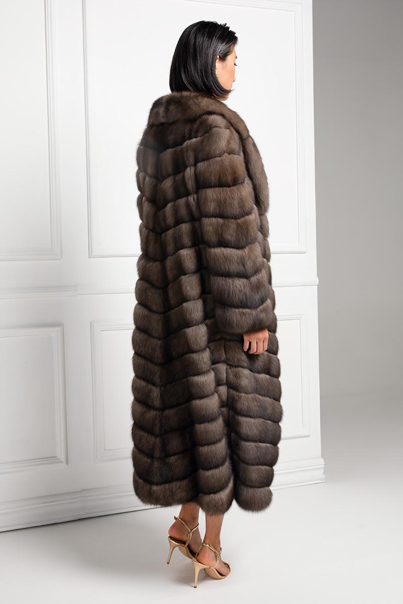 Cappotto di Zibellino Russo Barguzinsky