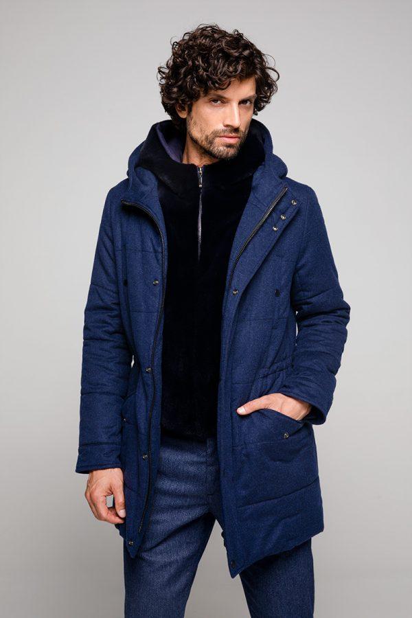 Loro Piana Cashmere and Sheared Mink Fur Coat