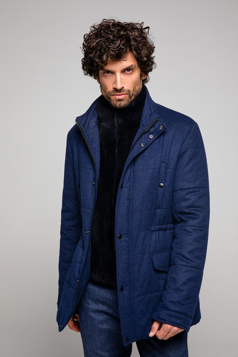 Cashmere and Sheared Mink Fur Coat