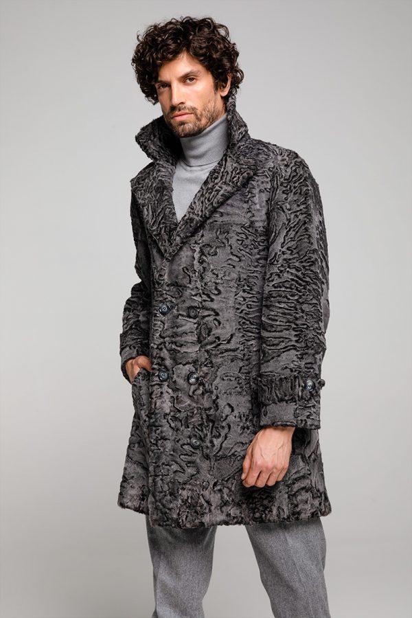 Dark Stone Swakara Coat