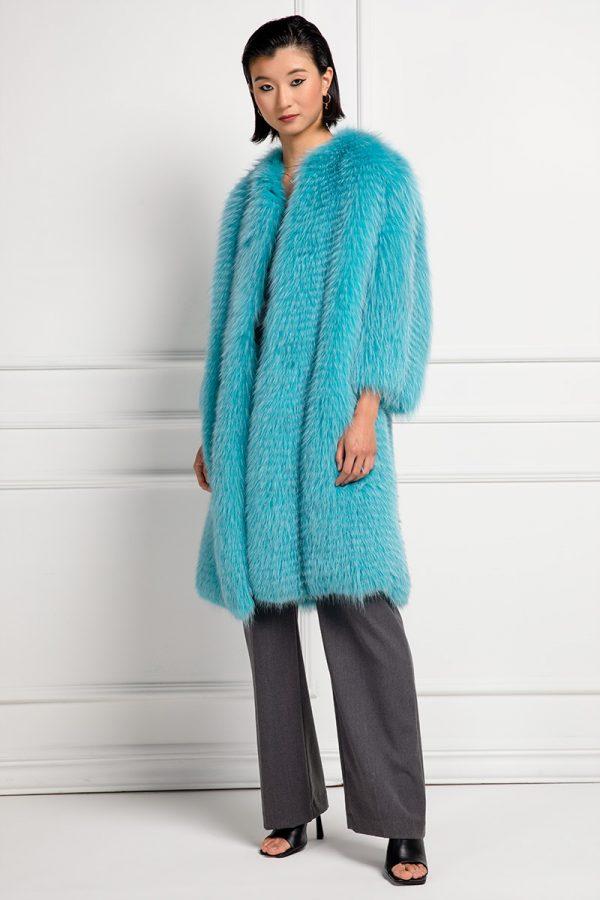 Cappotto di Volpe Aquamarine