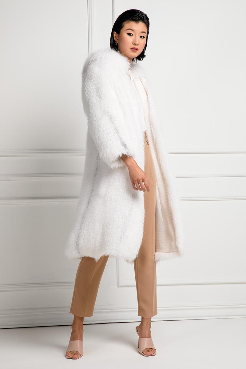 Cappotto diVolpe Bianca